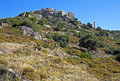 Perched village of Sant'Antonino, Corsica Royalty Free Stock Images