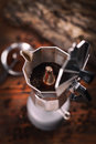 Percolated espresso coffee Royalty Free Stock Photo