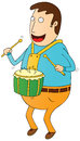 Percussionist illustration of a man Royalty Free Stock Photo