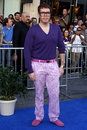 Perez hilton los angeles jan arrives at the gnomeo and juliet premiere at el capitan theater on january in los angeles ca Stock Photography