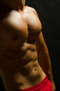 Perfect abdominal muscles Stock Photo
