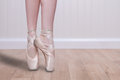 Perfect Ballet Dancer En Pointe With Copy Space Royalty Free Stock Photo