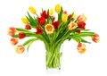 Perfect bouquet of tulips in a vase Stock Photography