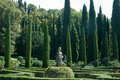 Perfect clean style italian garden verona Royalty Free Stock Photo