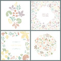 Perfect collection of floral spring cards vector file organized in layers for easy editing Royalty Free Stock Photo