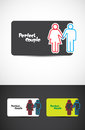 Perfect couple logo Stock Photo