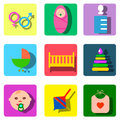 Perfect detailed baby icons