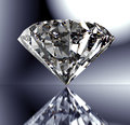 Perfect diamond isolated on shiny background with clipping path Royalty Free Stock Photo