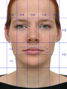 Perfect face (with lines) Stock Photography