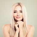Perfect Female Face. Beautiful Model Woman