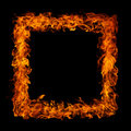 Perfect fire on black background Stock Photo