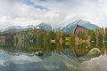 Perfect lake in mountains view of romantic scenery strbske pleso high tatras slovakia Royalty Free Stock Photo