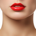 Perfect lips sexy girl mouth close up beauty young woman smile natural plump full lip lips augmentation close up detail bright Stock Photo