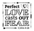 Perfect Love Casts out Fear Emblem