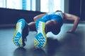 Perfect push-up. Royalty Free Stock Photo
