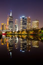 Perfect Reflection - Melbourne City Skyline Stock Images