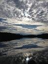 Perfect Reflections, Moon River, Muskoka, Ontario, Canada Royalty Free Stock Photo