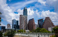 Perfect Summer View Austin texas Afternoon Perfection Summer time Bliss Downtown Skyline Cityscape Royalty Free Stock Photo