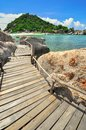 Perfect tropical bay on koh tao a paradise island in thailand asia Royalty Free Stock Photos
