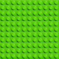 Perfect vector lego background of closeup plastic gloss construction block. Green.