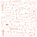 Perfect vintage hand drawn arrows made in vector Royalty Free Stock Photo