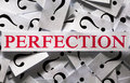 Perfection questions about the too many question marks Stock Photos