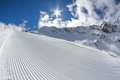 Perfectly groomed empty ski piste see my other works in portfolio Stock Photos