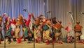 Perfomance folk ensemble kazachya volnitsa in ekaterinburg russia september beautiful ethnic dance and patriotic songs Stock Images