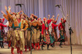 Perfomance folk ensemble kazachya volnitsa in ekaterinburg russia september beautiful ethnic dance and patriotic songs Royalty Free Stock Photo