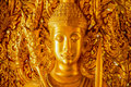 The perforate on door in public temple this picture is generic art in thailand it is not trademark in this picture Royalty Free Stock Image