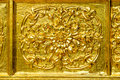 The perforate on door in public temple in thailand this picture is generic art in thailand it is not trademark in this picture Royalty Free Stock Images
