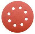 Perforated abrasive wheel brown isolated over white Stock Photo