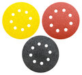Perforated abrasive wheels, isolated Royalty Free Stock Photo