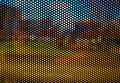 Perforated abstract pixel city background Royalty Free Stock Photo