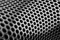 Perforated cylindrical pattern Royalty Free Stock Image