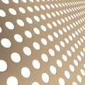 Perforated metal surface background d illustration Royalty Free Stock Photo