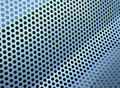 Perforated metallic grid Stock Photography
