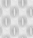 Perforated ovals on continues lines modern seamless pattern geometric background with effect shadow creates d texture Stock Image