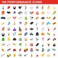 100 performance icons set
