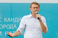 Performance of the moscow mayoral candidate alexey navalny election russia Royalty Free Stock Photo
