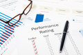 Performance rating form Royalty Free Stock Photos