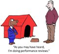 Performance reviews as you may have heard i m doing Stock Image