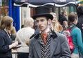 Performer at Edinburgh Festival Fringe Royalty Free Stock Photo