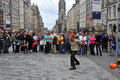 Performers at edinburgh festival at the street Royalty Free Stock Images