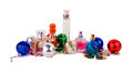 Perfume and accessories Christmas balls Royalty Free Stock Photo