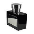 Perfume bottle black on a white background Royalty Free Stock Image