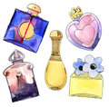 Perfume bottles set. Stock Photography