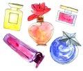 Perfume bottles set Royalty Free Stock Photo
