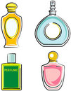 Perfume bottles (Vector) Royalty Free Stock Image