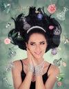 Perfume Fantasy in Zero Gravity Royalty Free Stock Photo